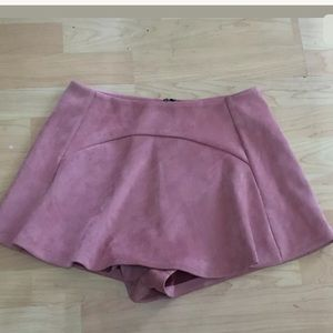 SEEK the label Mauve Pink faux suede skirt skort M